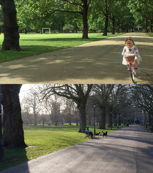 The rest of the photos are just more screenshot comparisons of the bicycle ride.
