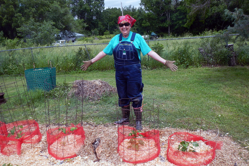 Farmer Lady Diana with the prettiest tooled garden in all the land. taken 6-1-13