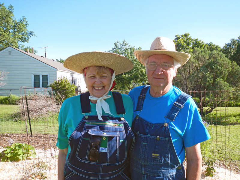 Farmer Gary with his wife