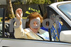 Lawrence HS Homecoming Parade, Grand Marshall, Mary Miller, Long time LHSchool Disctrict employee, driven by Eileen Havey, secretary to AD Pat Pizzarelli. Photo by Kathy Leistner