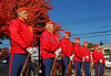 Marine Veterans prior to gun salute.  Mayor Curran gave a heartfelt reminder that should never forget those who served our country. Lynbrook Veteran's Memorial Day Service, November 11th, 11 am, 2007.  Photo by Kathy Leistner