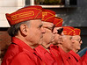 Marine Corps League prepares for gun salute. November 11th, 2007, Lynbrook, Veteran's Square, Photo by Kathy Leistner