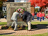 Placing of the weather on the WWII Wall of Honor by American Legion Post 335 Commander, Pat Cardone.  Lynbrook Veteran's Memorial Day Service, November 11th, 11 am, 2007.  Photo by Kathy Leistner