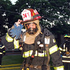 Lt. firefighter from VSFD. House fire, Wheeler and Morris Parkway, Valley Stream, June 13th,2008. Second fire of the day for VSFD. One person rescued. Photo by Kathy Leistner