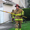 Firefighter from VSFD House fire, Wheeler and Morris Parkway, Valley Stream, June 13th,2008. Second fire of the day for VSFD. One person rescued. Photo by Kathy Leistner