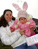 Paula and Isabella Soliano, 21 months, from W. Hempstead. Hall's Pond Park Lion's Club Easter Egg Hunt, April 7th, 2007. Photo by Kathy Leistn
