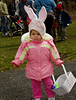 Isabella Solarino, 21 months, of W. Hempstead, fills her basket with eggs.  March 7th, Hall's Pond Park Lion's Club Egg Hunt. Photo by Kathy Leistner.