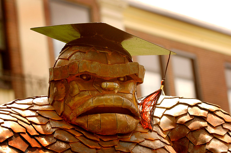 The Ruocco Rockman, tassle to the left prior to graduation. Photo by Kathy Leistner