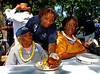 L-R Mary Harvelle and Ernestine Reese, of Inwood,  are served by Diane Stark, Inwood Community Center. 5th Annual Family Unit Day, August 11th, 2007. Photo by Kathy Leistner