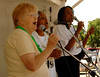 Entertaining the crowd, L-R Kathrine Bruno, member of the Inwood Community Center, and Ora Baston and Willie Mae Jackson of the Solid Rock and Smith Gospel Singers of Jamaica. 5th Annual Family Unit Day, August 11th, 2007. Photo by Kathy Leistner