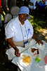 Vera James, of Inwood was served a feast of tasty barbeque .5th Annual Family Unit Day, August 11th, 2007. Photo by Kathy Leistner