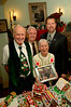 Hans Semder is recognized with citations and photographs at the VS Historical Society 's Annual Gingerbread House Contest and Bake Sale on Sunday Dec. 3rd. <br /> L- R Hans Semder, Marge Chavatal, Jim Buckley Edwin A. Fare (Village of Valley Stream).