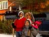 L- R Sheena and Serena Samu and Alan Abraham, Elmont, NY. Photo by Kathy Leistner