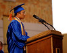 Valedictorian Philip Tan speaks of the loss of classmate and friend John A. LaBarbera who died  in the fall of 2005. VSCHS graduation, June 22, 2007. Photo by Kathy Leistner