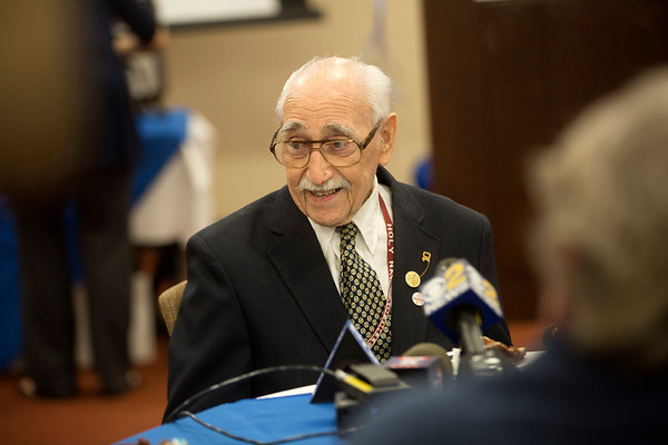 Holy Name Medical Center volunteer and veteran Herand Kafafian celebrated his 100th birthday at Holy Name Medical Center on September 5, 2018. <br /> <br /> Heron served the US Army as a photographer from 1942-1945 stationed in the Philippines. He was awarded the Purple Heart for injuries in the invasion of Leyte, under the command of General Douglas MacArthur.