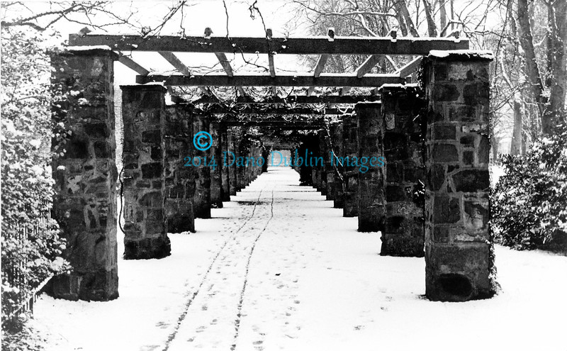 Pergola in Winter
