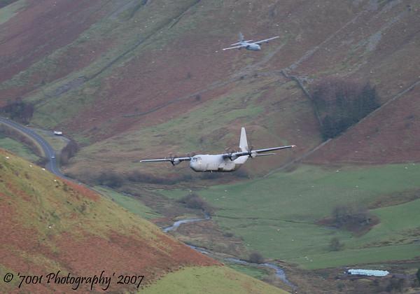 ZH874/'874' C-130J-30 C.4 & ZH887/'887' C-130J C.5 - 11th December 2007.
