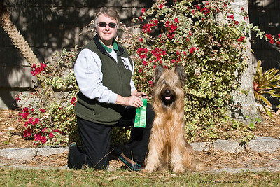 #11 - Chaotic's Bravo Romeo Echo CGC, TT, HT, TCT, PT, earned her JHD title.  Bre is owned by James & Michelle Holmes (pictured) & Nicole Keys.