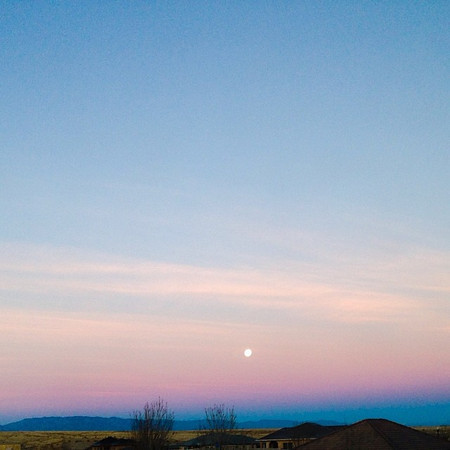 Moon setting in Southern Colorado.