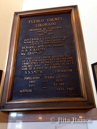 Plaque inside the courthouse