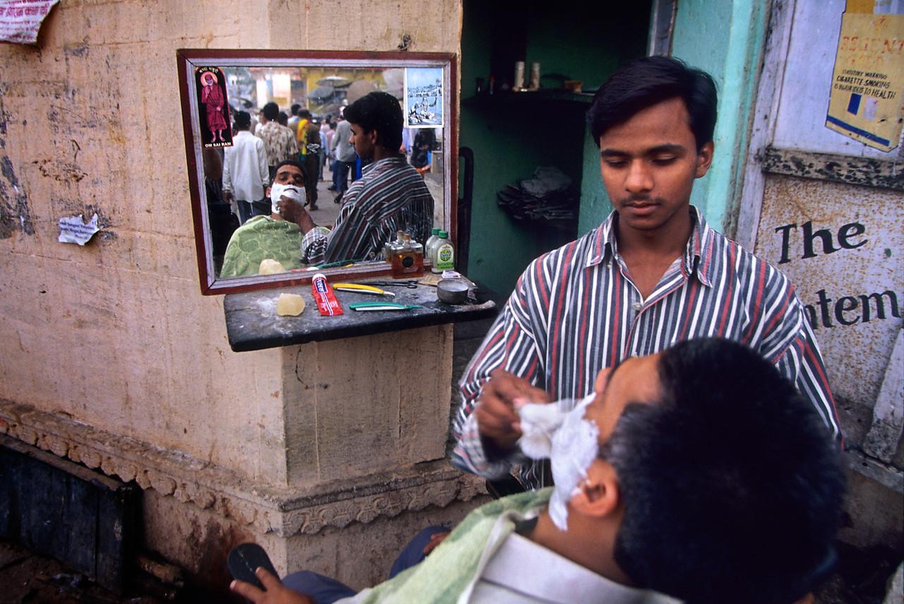 Barber, Varanasi. India.