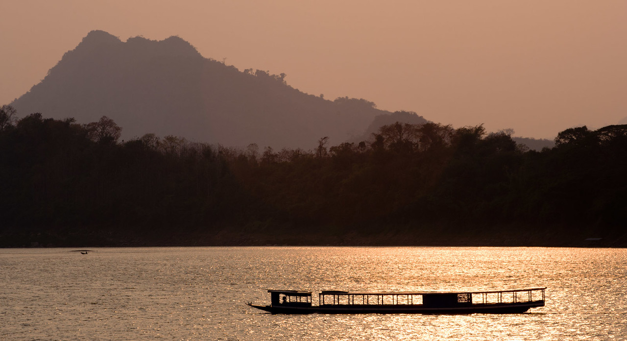 Mekong river, Luang Prabang. Laos.