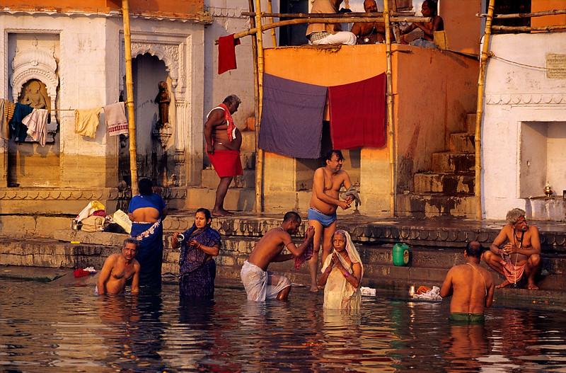Morning bath. Varanasi. India.