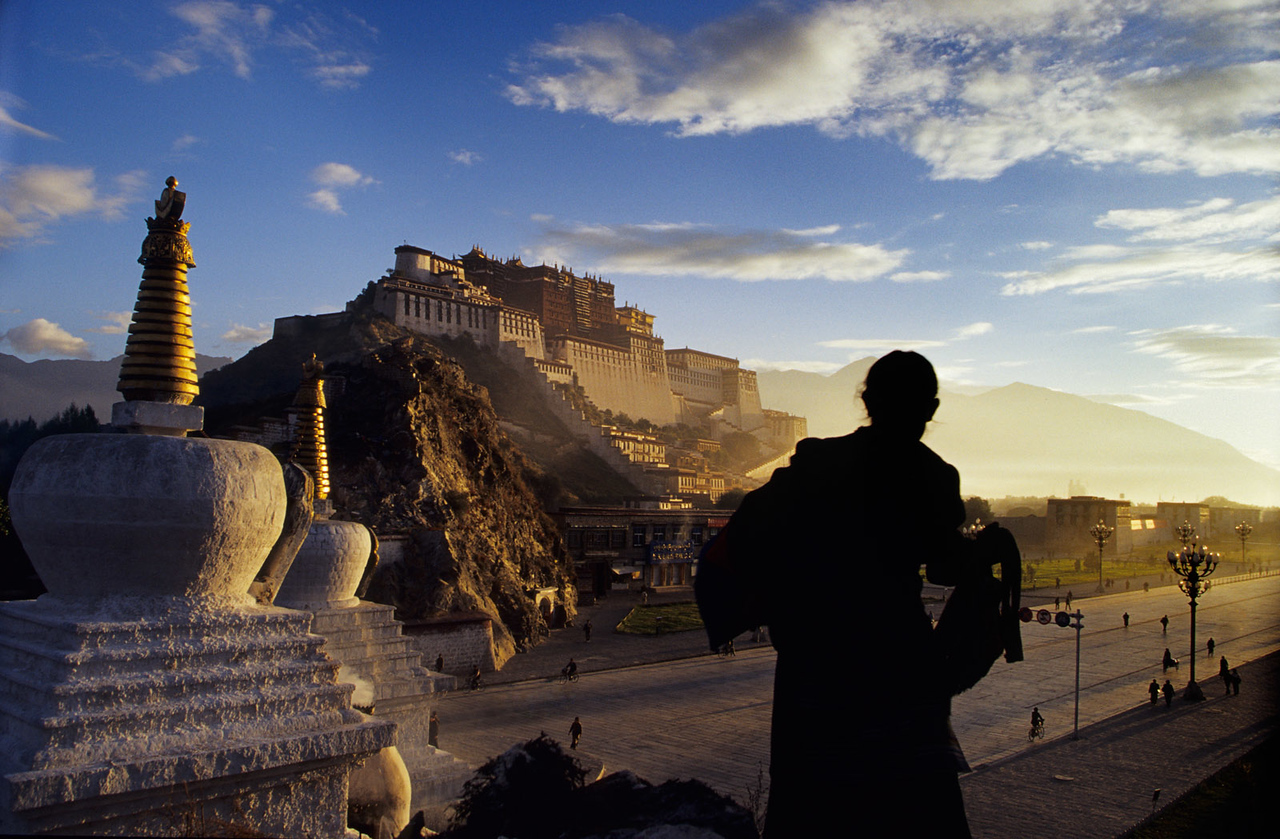 The Potala, early morning in Lhasa. Tibet.