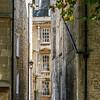 Narrow alleyways