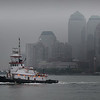 A grey day in the city created just the 'monotonish' background look I've been longing to capture behind a passing tug with a nice pop of color.