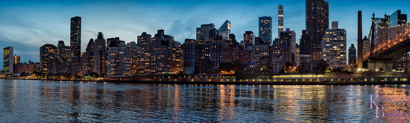 """Blue hour"", my first Panorama (sort of...)"