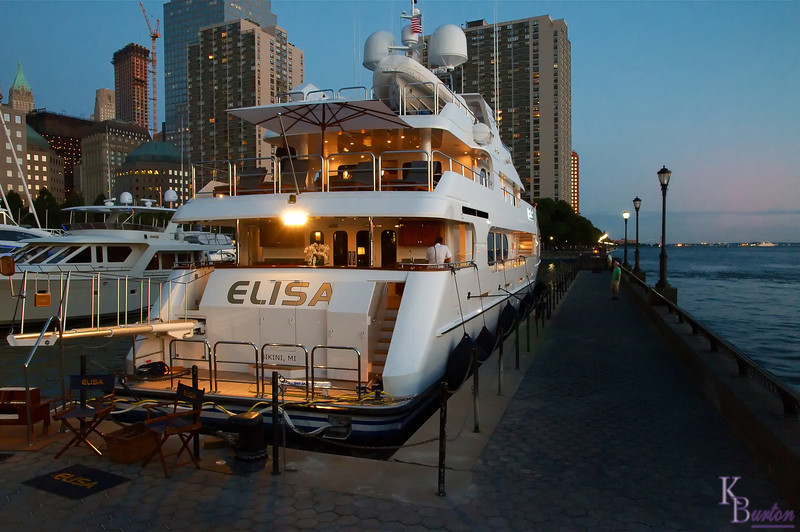 The many super yachts that dock here at the North Cove in Battery Park City, make for some great looking shots.