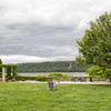 There are several of nice places to sit and enjoy the view of the Hudson at Wave Hill. This is one of them.