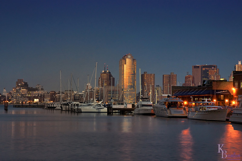 DSC_6767 Jersey City marina at dusk