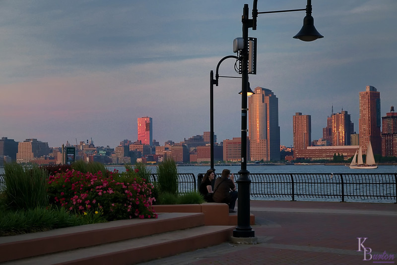 The Jersey City coast provides lots of nice spots to capture pretty scenic photo's, especially in the spring when their flowers are in bloom.
