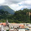 view of Dominica from our cruise ship