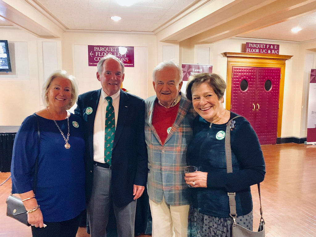. From left, Jane and Jack Sullivan of Andover, and Jim and Susan Cooney of Tyngsboro