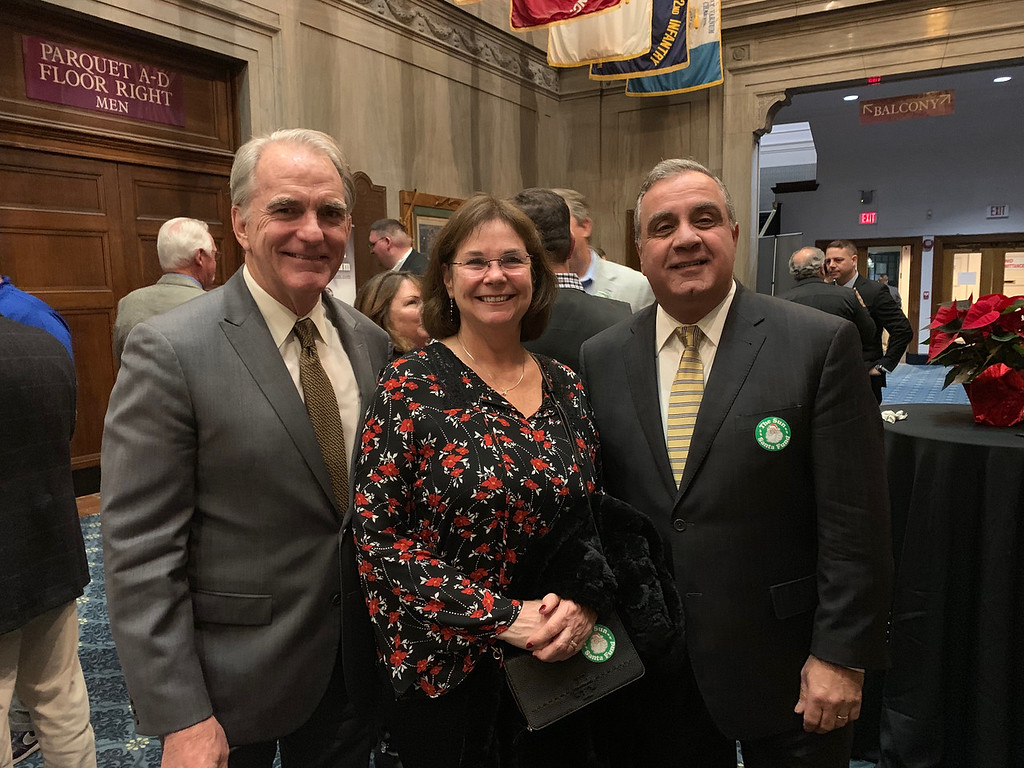 . From left, Greater Lowell Community Foundation President/CEO Jay Linnehan and Patti Linnehan of Lowell, and John Chemaly of Chelmsford