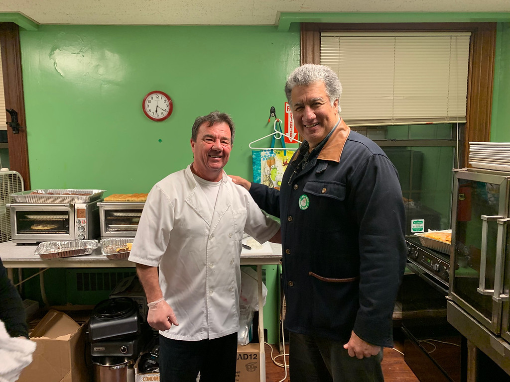 . Chef Brian McMahon and Steve Panagiotakos, both of Lowell