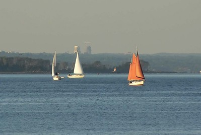 Evening Sailing on Long Island Sound.