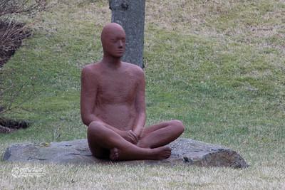 the sitting man