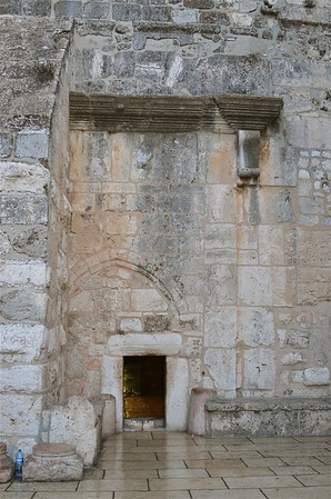The Door of Humility, also the entrance to the Church of the Nativity, Bethlehem.