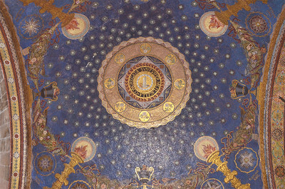Ceiling inside the Church of All Nations
