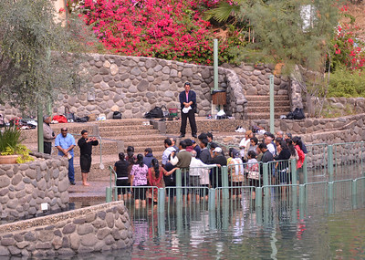 Baptism Ceremony on the Jordan River.