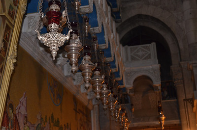 Inside the the Church of the Holy Sepulchre, Jerusalem.