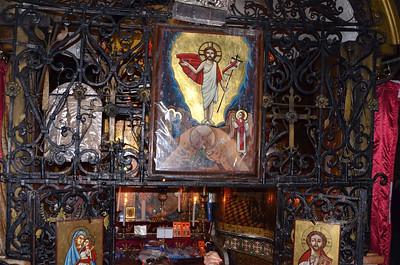 Inside the Church of the Holy Sepulchre, Jerusalem.