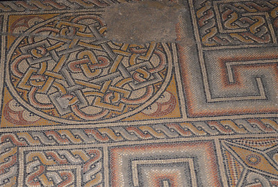 Floor Mosaic Inside the Church of the Nativity, Bethlehem.