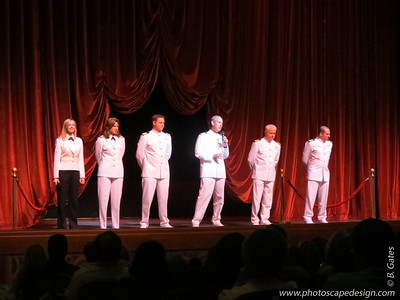 Captain Guus Verhulst and Company, including Cruise Director Rachel Quinn (far left)