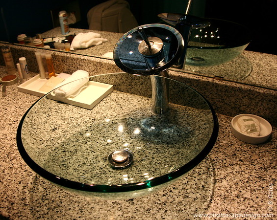 When I head to California for work, I stay at the Hotel Zico in Mountain View.  We all fondly refer to the rooms there as the Austin Powers' Suites.  A bit on the funky side, and my favorite thing are the bathroom sinks.  Yes, the sinks :)