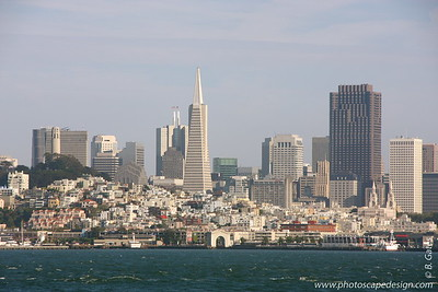 View of San Francisco and surrounding area from the Alcatraz ferry